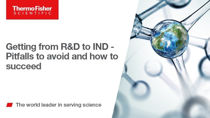 Getting from R&D to IND - Pitfalls to avoid and how to succeed